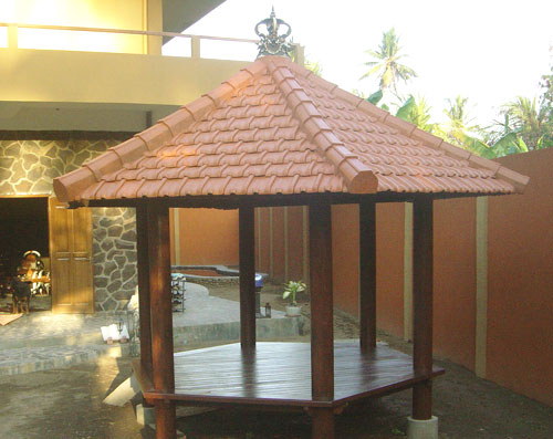 Furniture Joglo Taman Minimalis