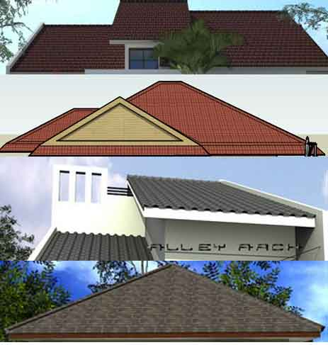bentuk atap rumah submited images